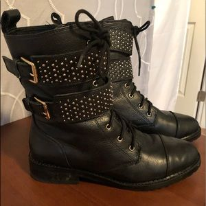 Rebecca Minkoff Women's Molly Studded Moto Boot